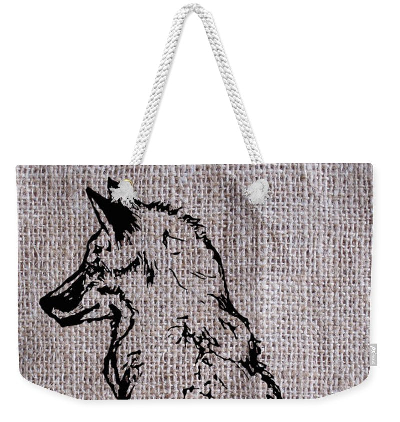 Fox On Burlap  - Weekender Tote Bag