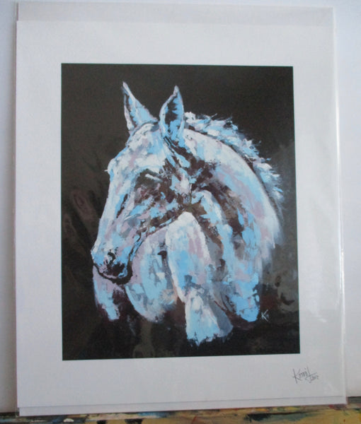 "Print of ""White Horse"" Painting, canvas"