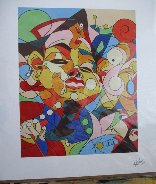 "Print of ""Cartoon"" Painting"
