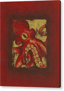 Giant Red Octopus - Acrylic Print