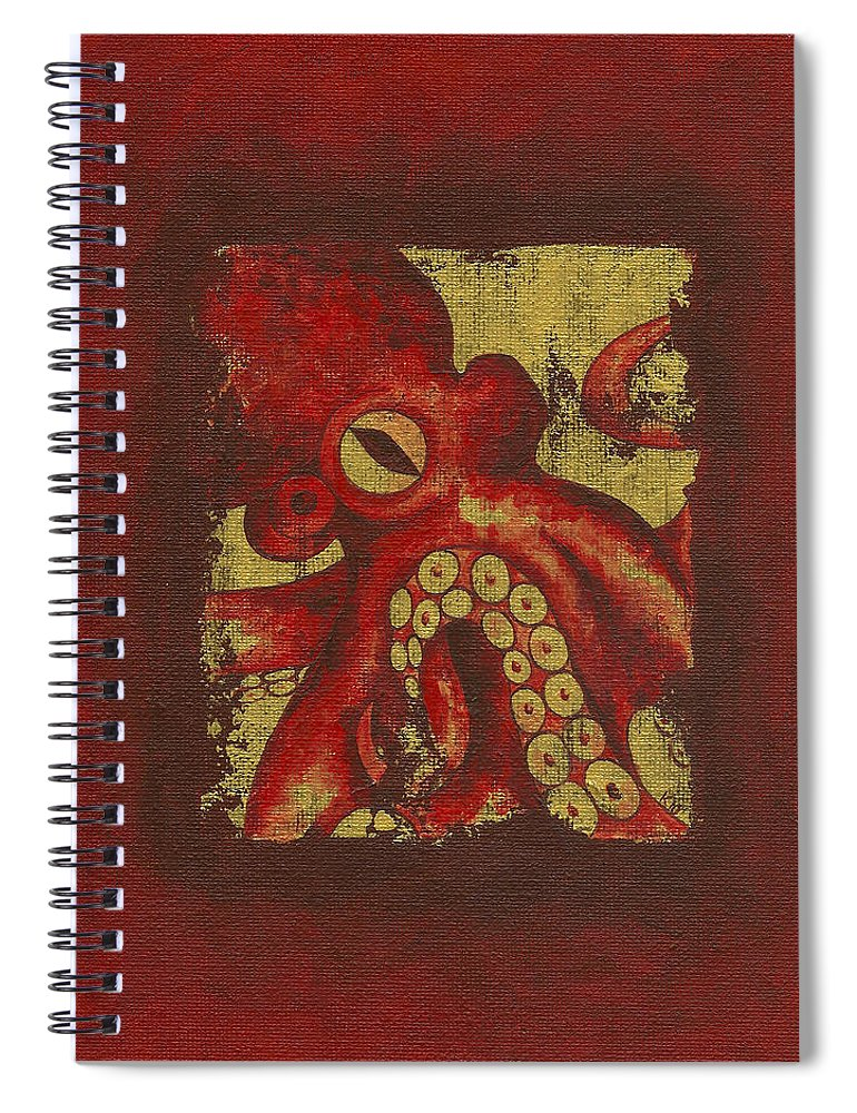 Giant Red Octopus - Spiral Notebook