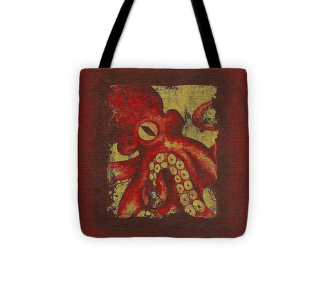 Giant Red Octopus - Tote Bag