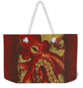 Giant Red Octopus - Weekender Tote Bag