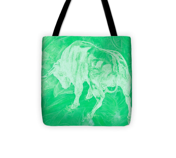 Green Bull Negative - Tote Bag