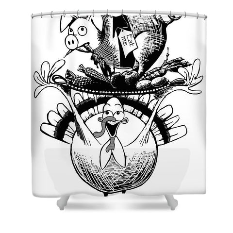 Happy Thanksgiving - Shower Curtain