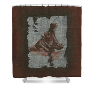Hippo - Shower Curtain