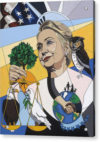 In Honor Of Hillary Clinton - Acrylic Print