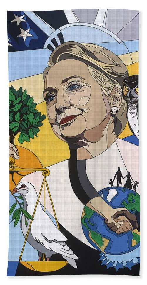 In Honor Of Hillary Clinton - Beach Towel