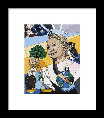 In Honor Of Hillary Clinton - Framed Print