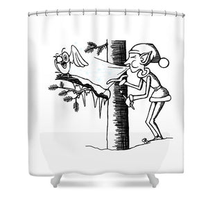 Jack Frost Holiday Card - Shower Curtain