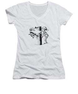 Jack Frost Holiday Card - Women's V-Neck
