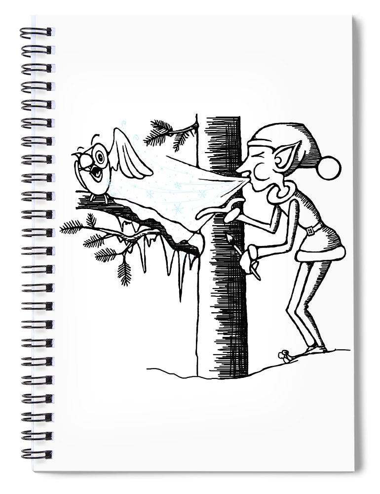 Jack Frost Holiday Card - Spiral Notebook
