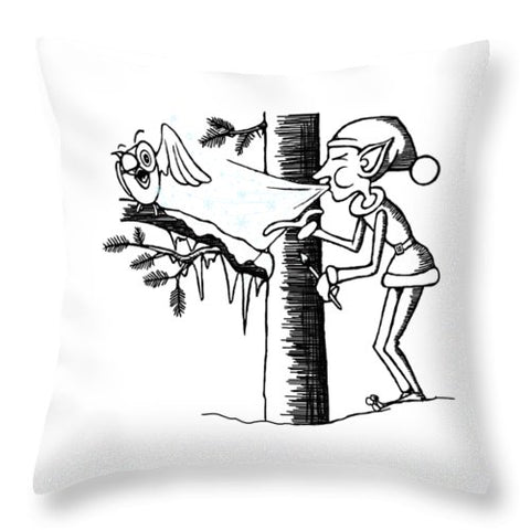 Jack Frost Holiday Card - Throw Pillow