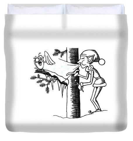 Jack Frost Holiday Card - Duvet Cover
