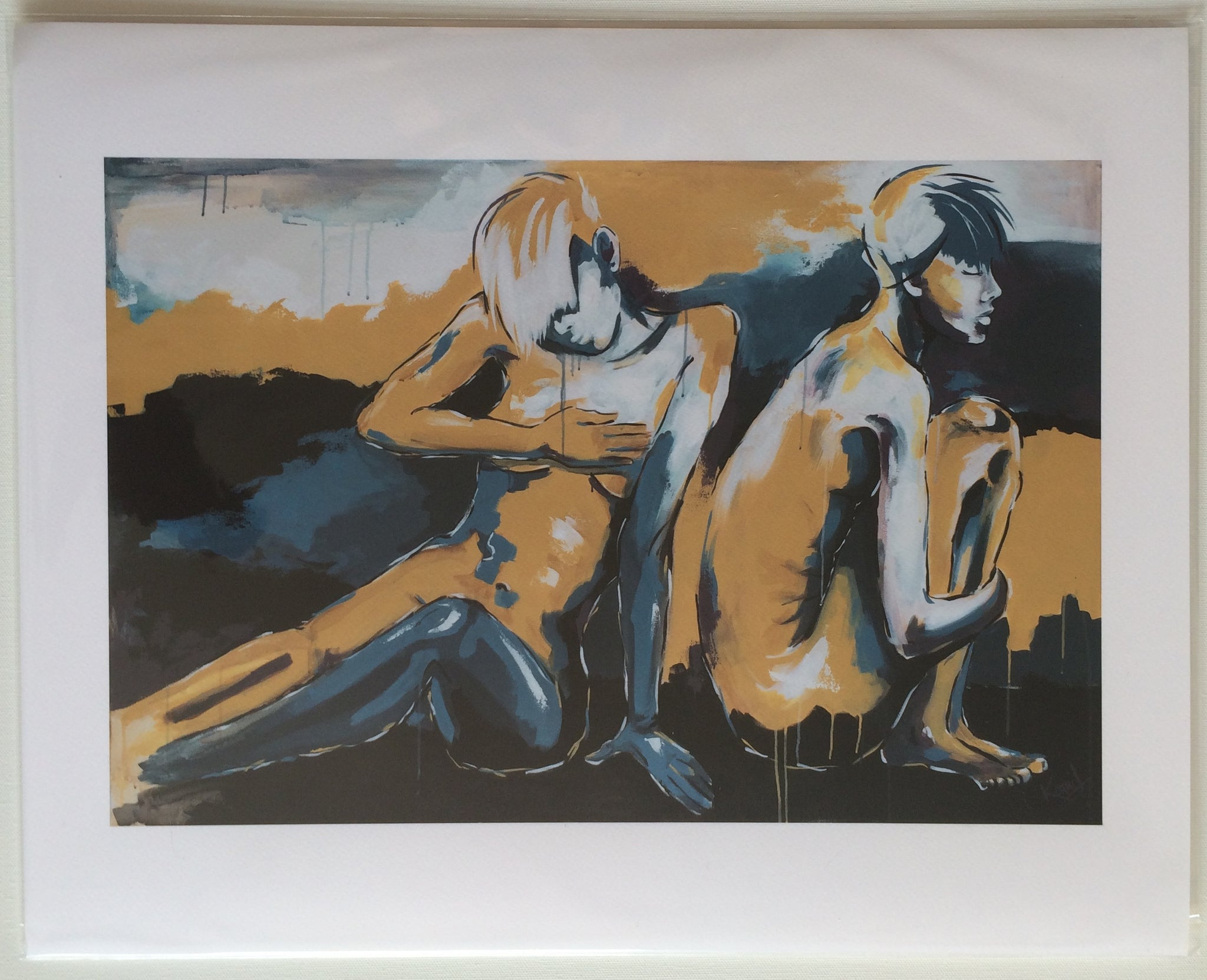 "Print of ""Letting Go"" Painting"