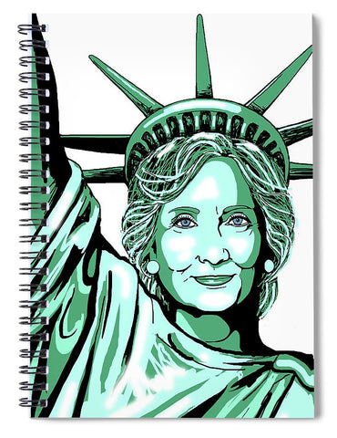 Liberty Hillary - Spiral Notebook