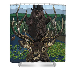 Lord Of The Manor With Hidden Pictures - Shower Curtain