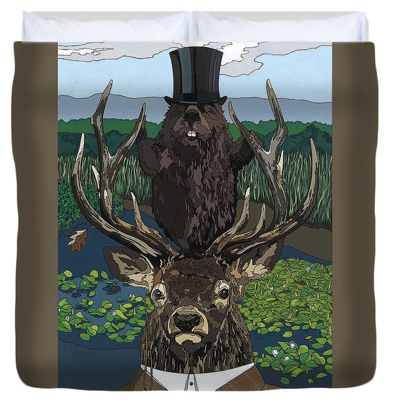 Lord Of The Manor With Hidden Pictures - Duvet Cover