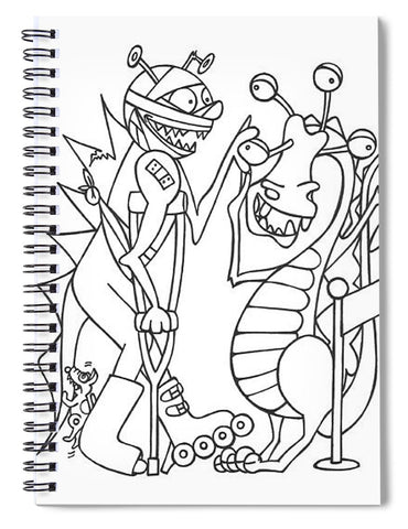 Monster  Queue - Spiral Notebook