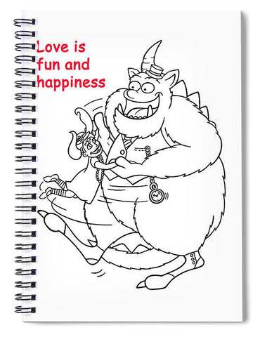 Monster Valentine - Spiral Notebook