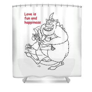 Monster Valentine - Shower Curtain