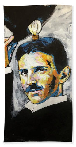 Nikola Tesla - Beach Towel