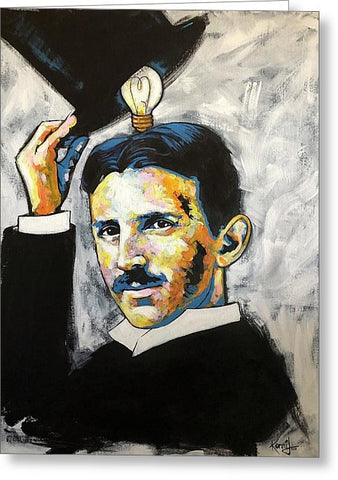Nikola Tesla - Greeting Card