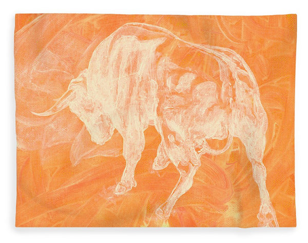 Orange Bull Negative - Blanket