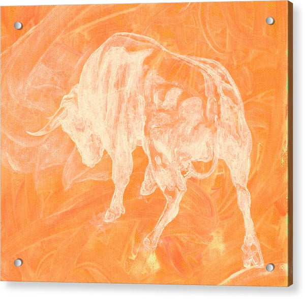 Orange Bull Negative - Acrylic Print