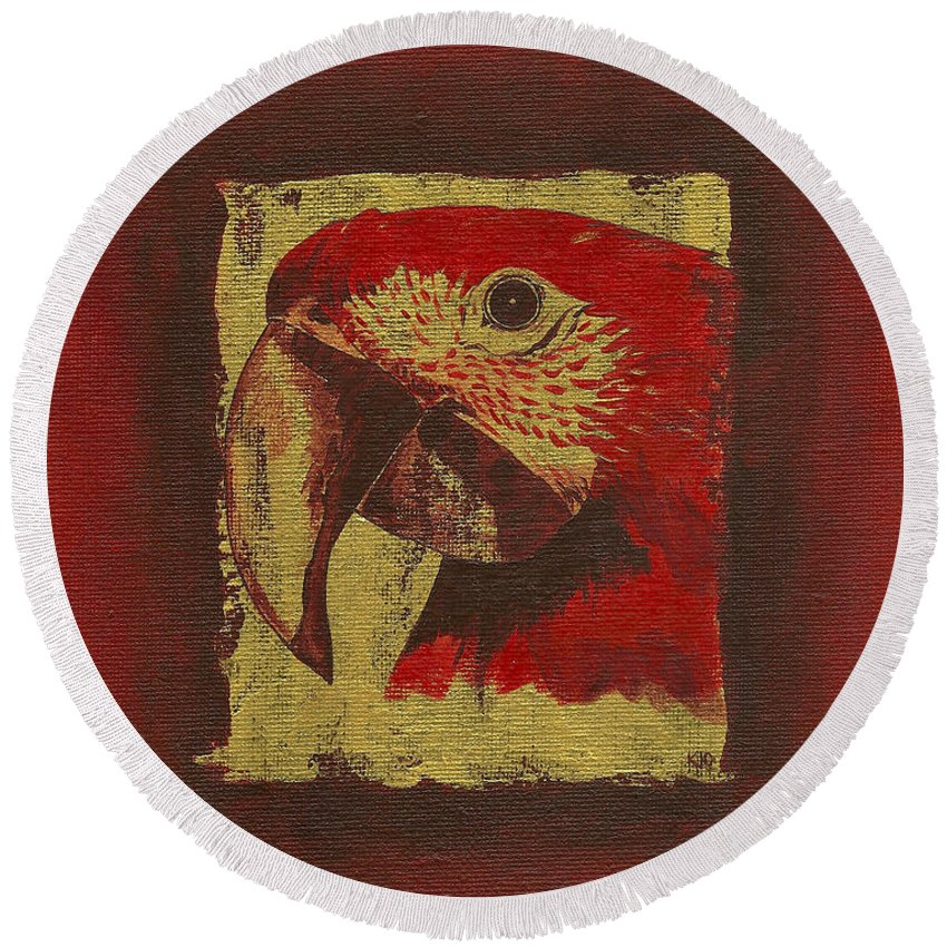 Parrot - Round Beach Towel
