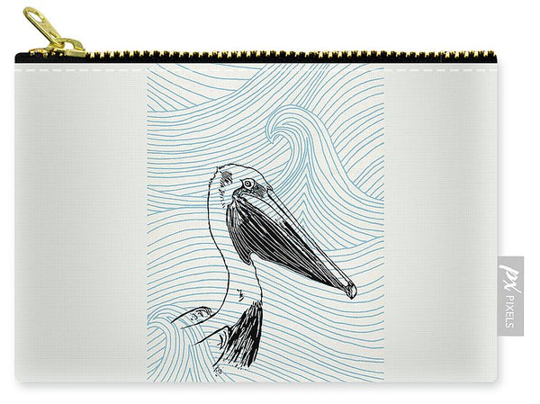 Pelican On Waves - Carry-All Pouch