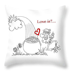 Pot Of Gold Valentines  - Throw Pillow