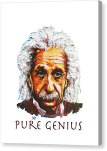 Pure Genius - Einstein - Canvas Print