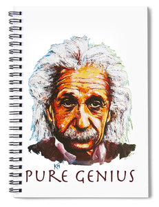 Pure Genius - Einstein - Spiral Notebook