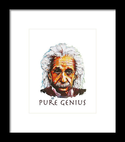 Pure Genius - Einstein - Framed Print