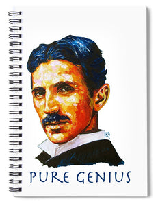 Pure Genius - Tesla - Spiral Notebook