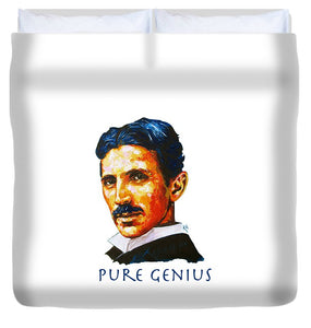 Pure Genius - Tesla - Duvet Cover