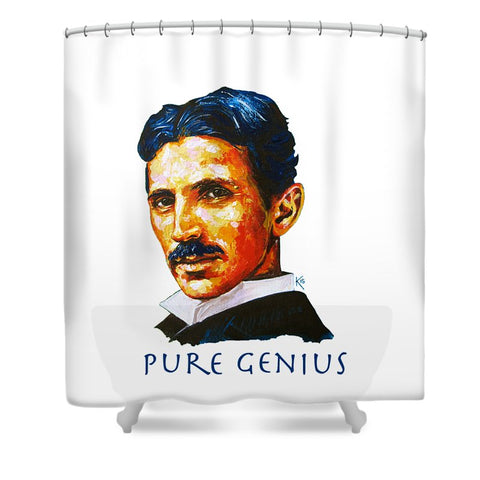 Pure Genius - Tesla - Shower Curtain