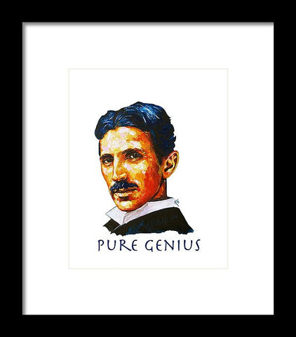 Pure Genius - Tesla - Framed Print