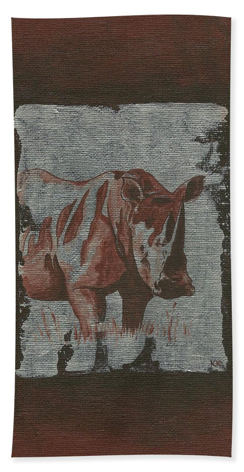 Rhinoceros - Bath Towel