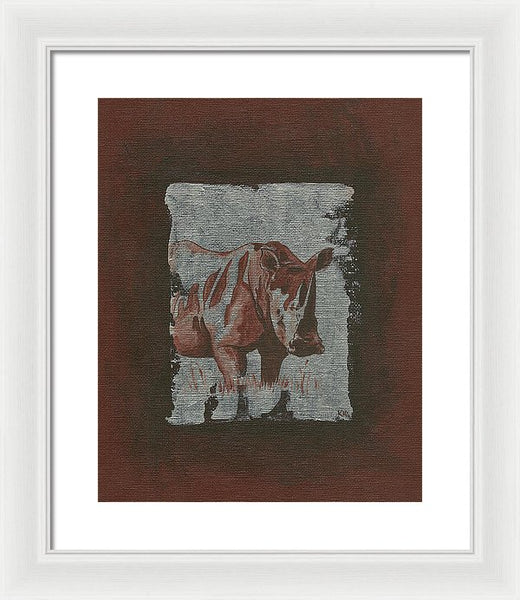 Rhinoceros - Framed Print