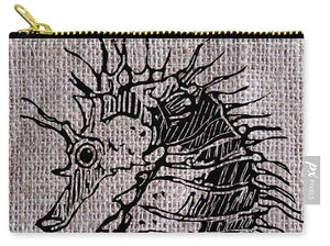Seahorse On Burlap - Carry-All Pouch