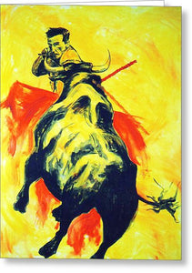 Spanish Bullfight - Greeting Card
