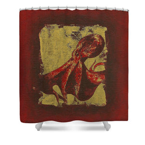 Spotted Red Octopus - Shower Curtain