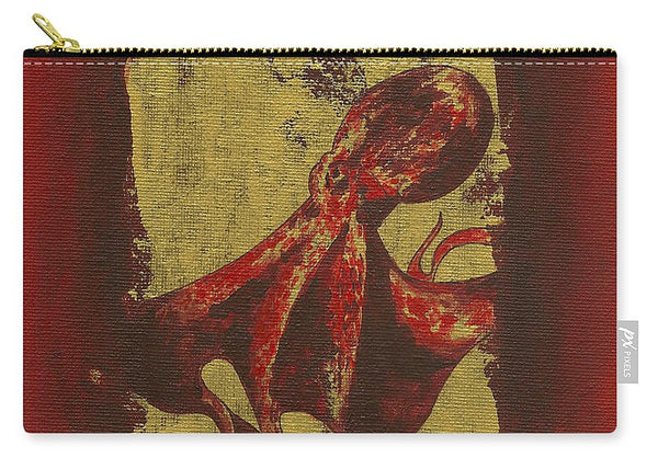 Spotted Red Octopus - Carry-All Pouch