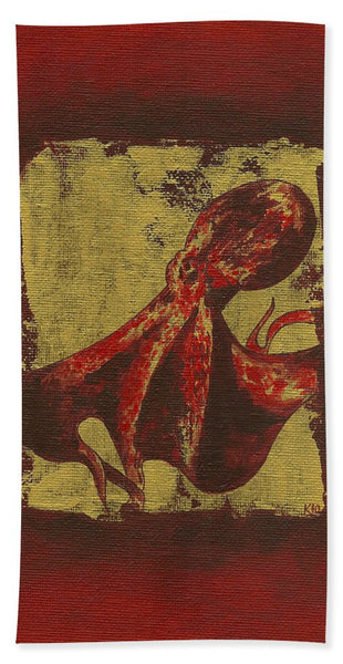 Spotted Red Octopus - Beach Towel
