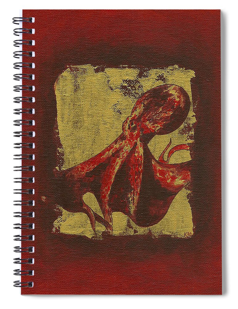Spotted Red Octopus - Spiral Notebook