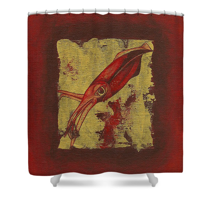 Squid - Shower Curtain