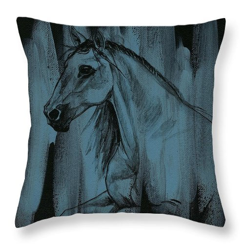 Stallion - Throw Pillow