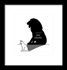 Sweet And Strong - Cat - Framed Print